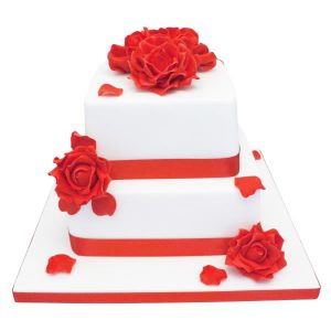Red Roses Cake