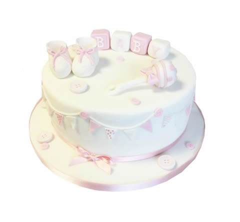 Baby Shower Rattle Cake