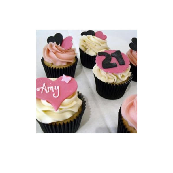 Glam Birthday Cupcakes
