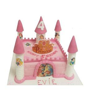Princess Castle Cake 1 Tier