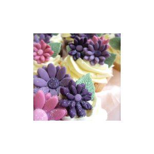 Purple Daisy Cupcakes