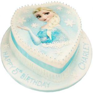 Loveheart Frozen Cake