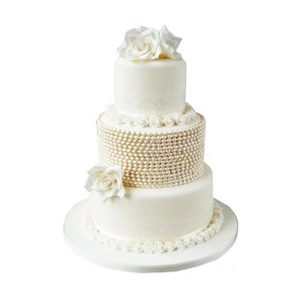 Pearl Decadence Wedding Cake
