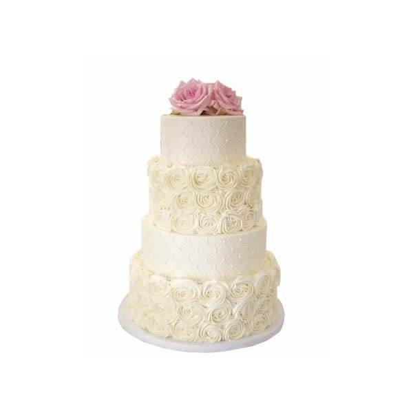 Rose Cushion Wedding Cake