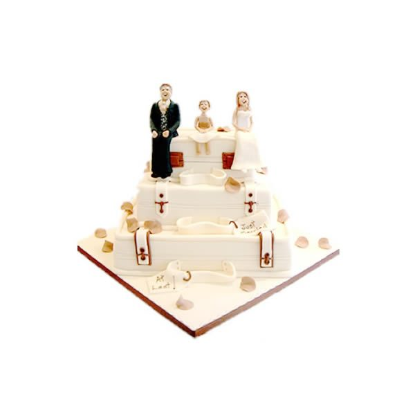 Wedding Suitcases Cake