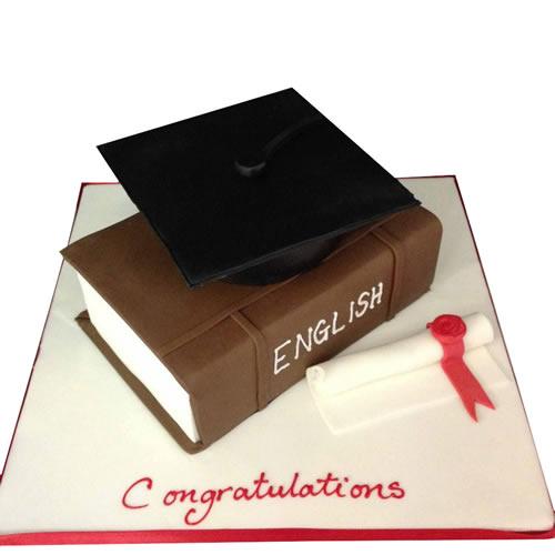 Graduation Book Cake