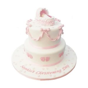Sleeping Baby Christening Cake