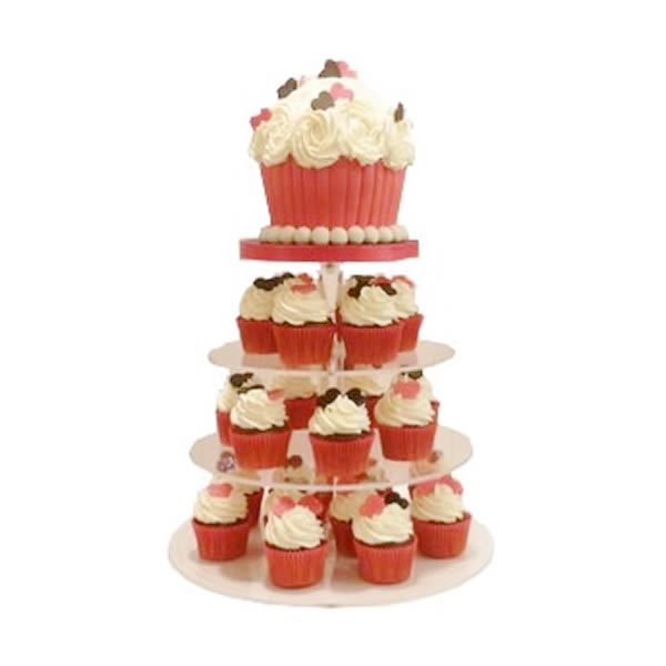 Loveheart Tower Cupcakes