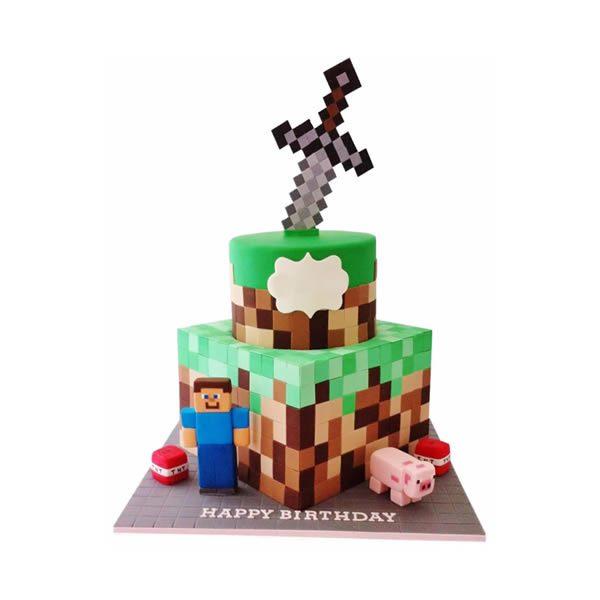 Minecraft Birthday Cake