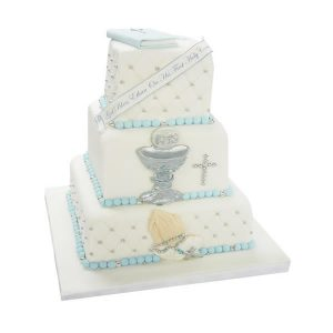 3 Tier Holy Communion Cake