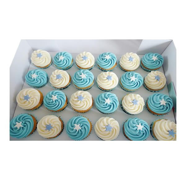 Christening Swirl Cupcakes