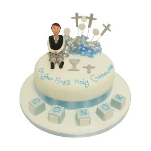 Communion Cubes Cake